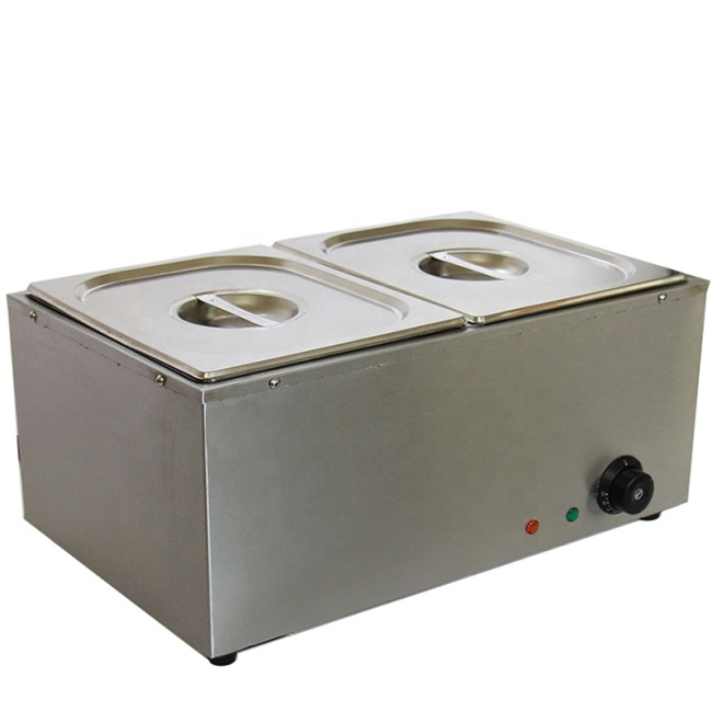 4 BOILER Electric Heating Food Warmer Table Top 4 Pan Stainless Steel Bain Marie
