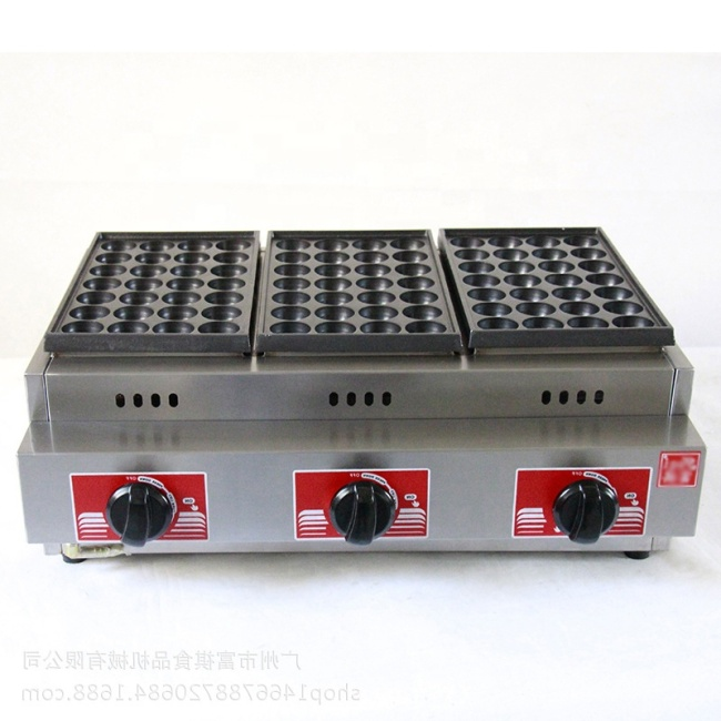 GH-768 Ceramic Automatic Malaysia Herramienta Japanese LPG Gas Fish Ball Pan Cooker Takoyaki Pan Grill Machine