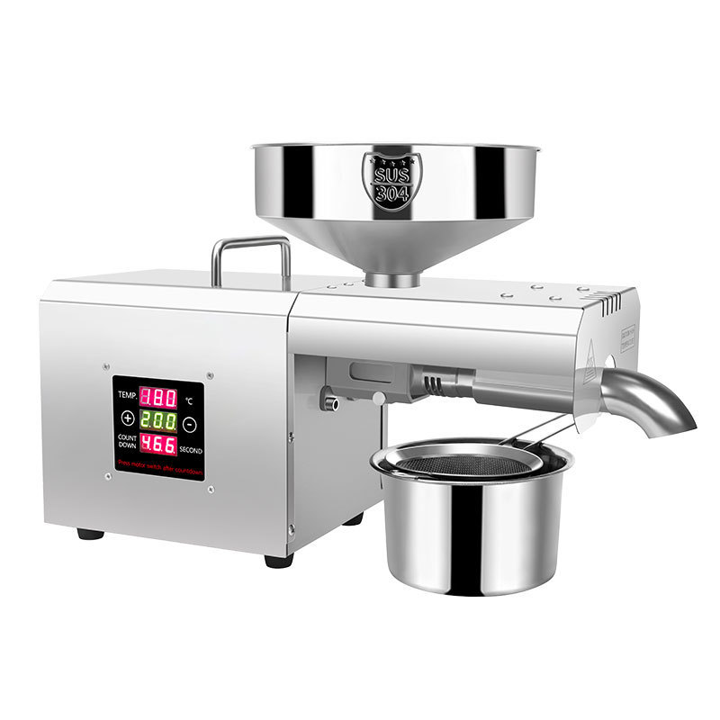 309 Automatic Stainless Steel Mini Oil Press Machine Plant Temperature Control Hot And Cold Pressing Of Peanut And Sesame