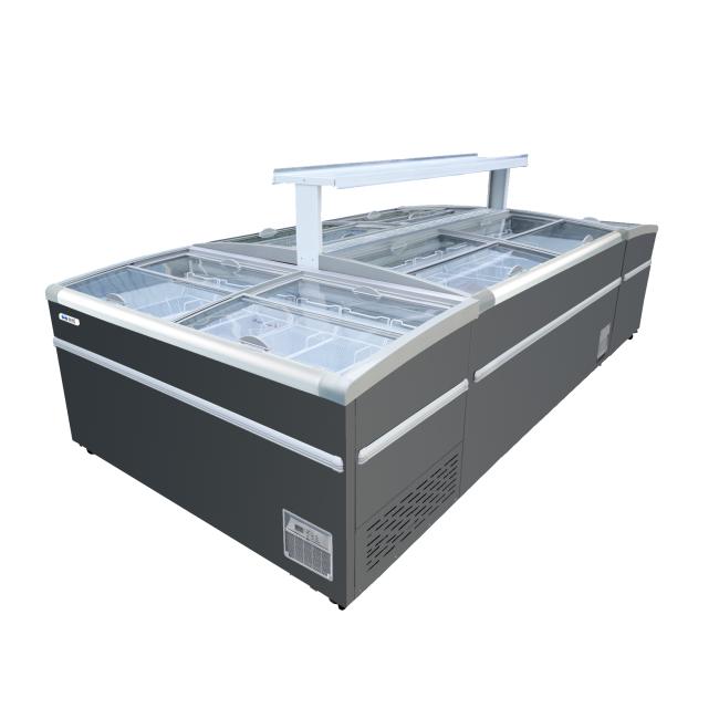 -22 degrees Discount  1month Cheaper Meat freezer Supermarket Island Freezer Cabinet