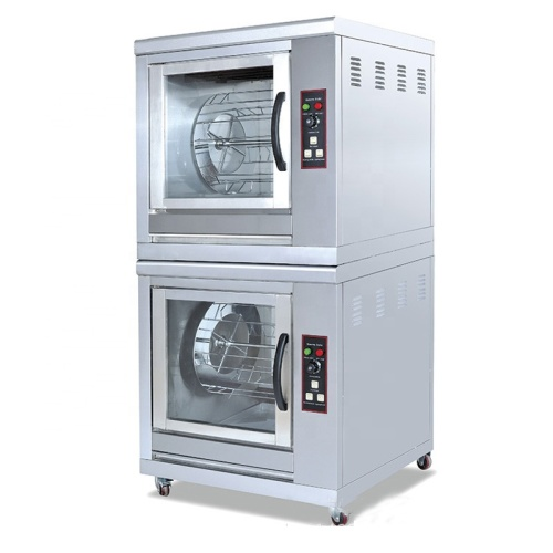 Commercial 2 Layers Electric Rotisserie Chicken Smoker For Sale