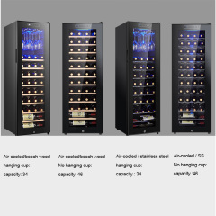 34 46bottle Wide Temperature Humidity Wine Cabinet Thermoelectric Grapes Red Wine Refrigerator Chiller