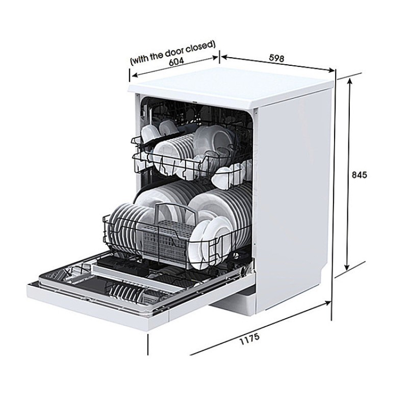 12 Sets Of Tableware Stand Alone Countertop Dishwasher Machine Disinfection And Drying 60cm Wide Dish-washing Machine ODM OEM