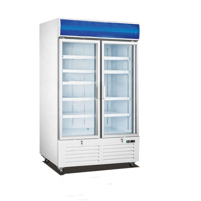 -18~-23 Upright 2 Two Glass Door Defrost Freezer