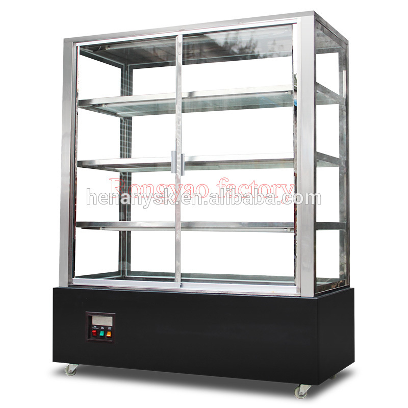 RY-RS-680 Commercial Vertical 1.2 M Hot Food Warmer Displays Case Fresh-Keeping Cabinets Display Cabinet