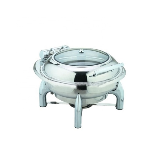 WH60LC Cheap Glass Cover Advanced Stainless Steel 6L Meal Stove Buffet Stove Pot Boiler buffet food warmers