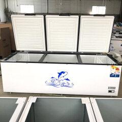 1 2 3 Doors Commercial Quick Freezing Horizontal Refrigerator Large Capacity Refrigerated Freezer Household Freezer