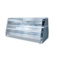 The Popular Warming Showcase Display Warmer With 30-85 Degrees Glass Food Warmer Display Showcase