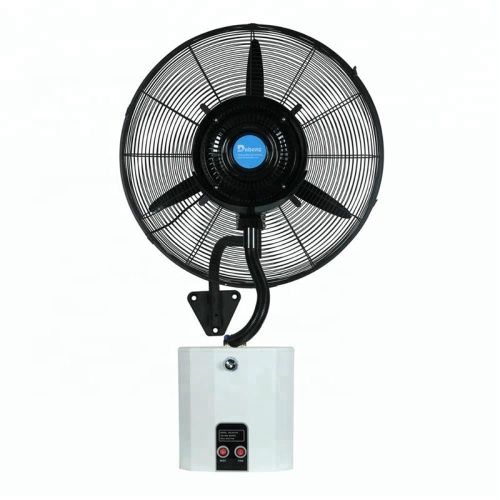 Cool Temperature Humidification Muti-Functions Outdoor with Water Tank Wall Hanging Spray Mist Fan 1set by Wooden Box
