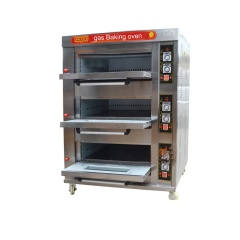 Top Quality Cheap Price 3layer 6pans Commercial Gas Oven Food Ovens Bread Bakery Oven