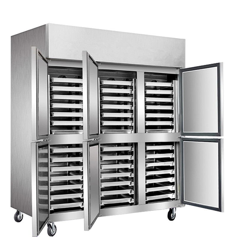-18~-22 42 trays Stainless Steel Commercial Refrigerator Kitchen Fan Cooling Pizza dough Tray Cabinet Industrial Freezer