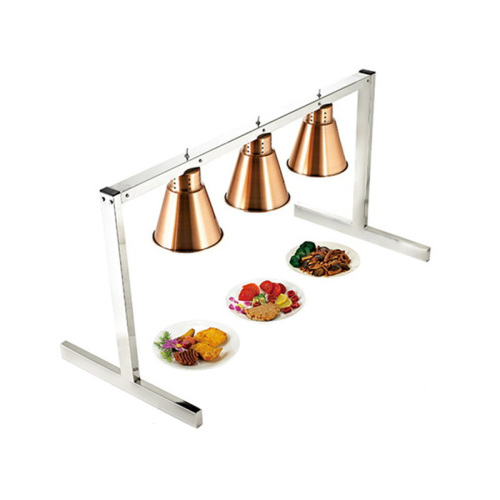 Two Bulb Commercial Portable Heat Lamp Food Warmer