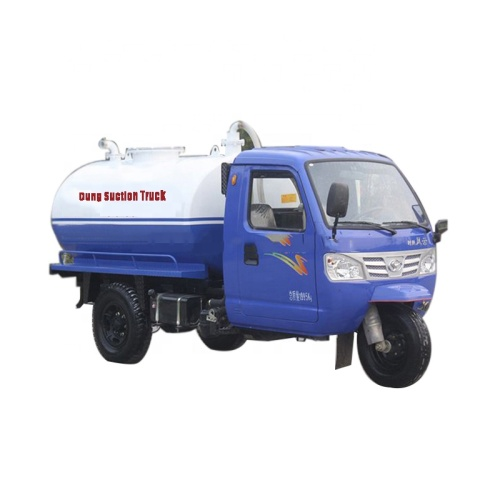 2.5 Cubic Meters Fecal Suction Truck With Awning Full Automatic Anti Overflow Valve
