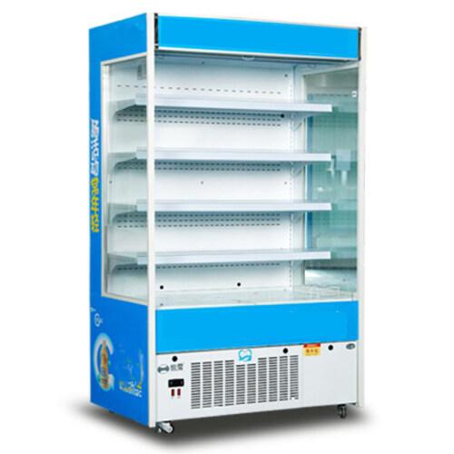 Vertical Milk Yogurt Juice Drink Open Commercial Display Fresh Fruit Vegetable Coolers for Sale
