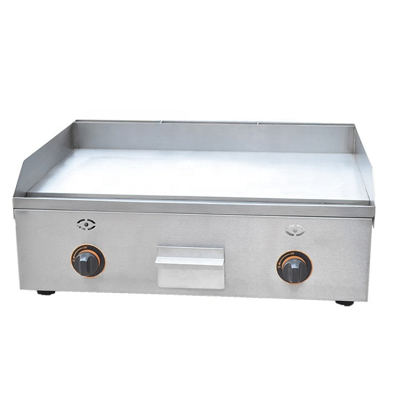 Cast Iron Gas / Electrical BBQ Grill Machine Electric Tabletop All Flat Hot Plate Griddle