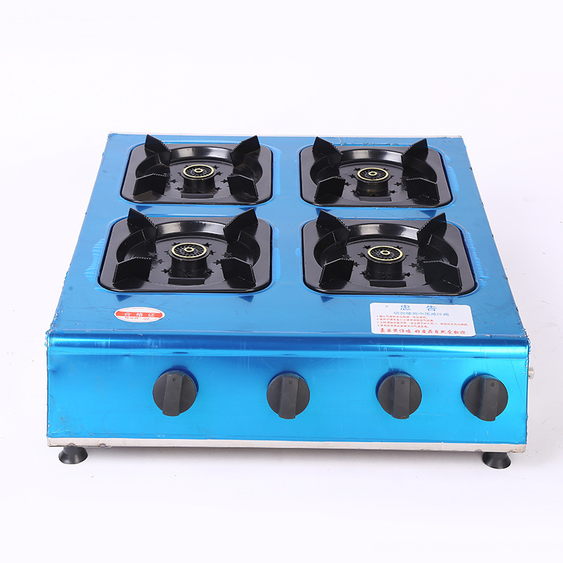 LPG NG 3 4 6 Burners Multi Pot Stove Widens Porridge Cooking Porous Portable Gas Cooker Stove Prices With Large Spacing Range