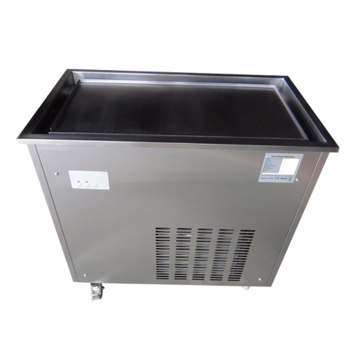 Commercial Ice Frying Machine Single Pan Fried Fruit Yogurt Machine Ice Fryer Machine