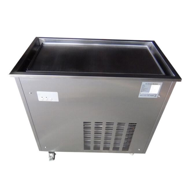 Commercial Ice Frying Machine Single Pan Fried Fruit Yogurt Machine Ice Fryer Machine