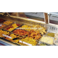Supermarket Display Freezer hanging Glass Deli Refrigerated Counter Meat Display Freezer Refrigerator Showcase