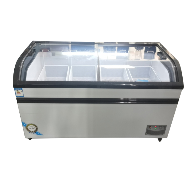 -18 Commercial Refrigerated freezer 2 Door Supermarket Fridge Freezing Cooler