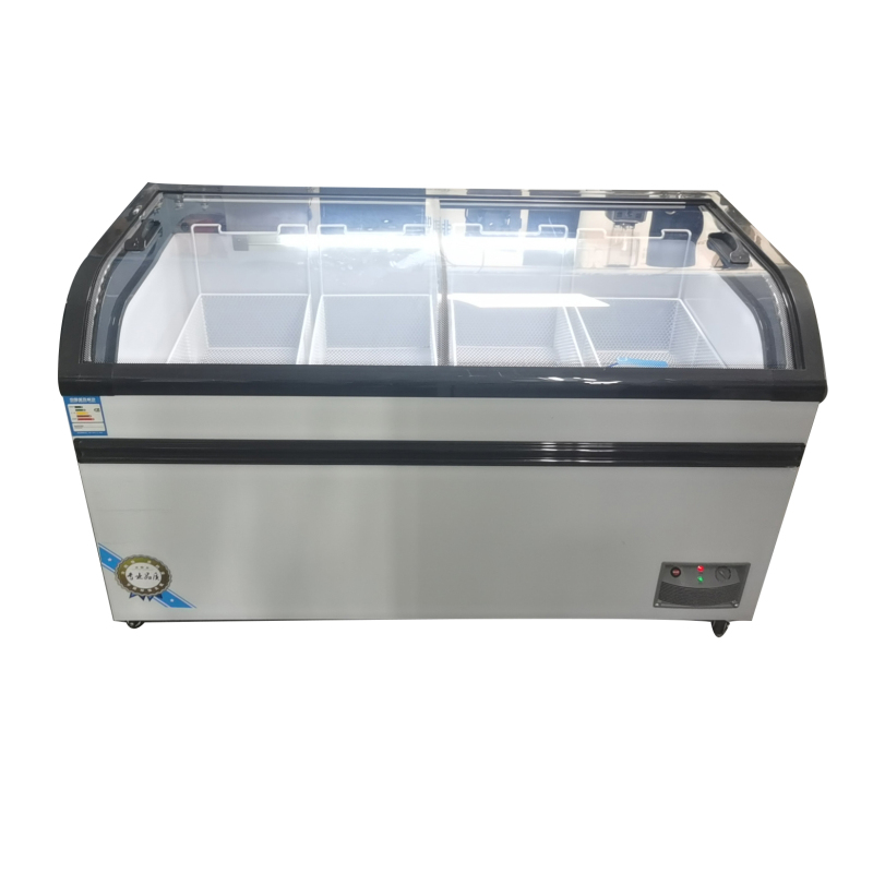 -18 Commercial Refrigerated freezer 2 Door Supermarket Fridge Freezing Cooler