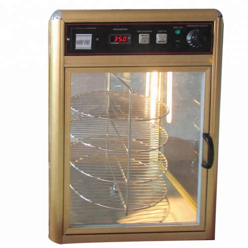 Water in Hot Sale Food Warmer Heat Pizza Display Warmer Glass Showcase
