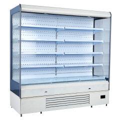 Black Color  Supermarket Vegetable Showcase cooler Fan Cooling Fridge Refrigerator For Drinks Vegetables