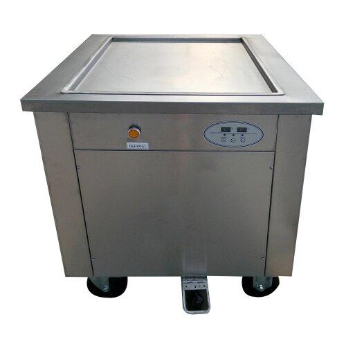 45 cm 50cm  60cm  1 Single Square Round Roller Fryer Flat Pan Fried Ice Cream Roll Machine
