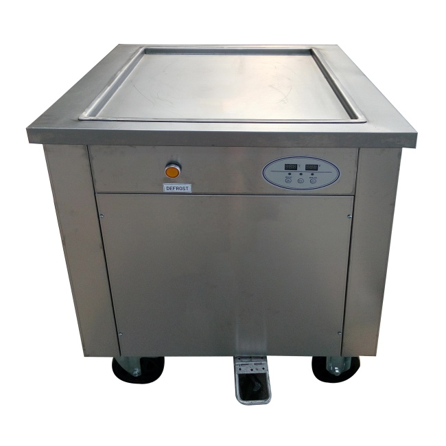 45 cm 50cm  60cm  1 Single Square Round Roller Fryer Flat Pan Fried Ice Cream Roll Machine