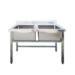 1 Sink 2 3 Sinks Detachable Stainless Steel Thicken  Home Kitchen Sink Restaurant