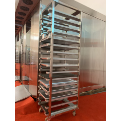 15trays 15 Pans Stainless Steel Bakery Rack Trolley Baking Kitchen Work Table Working With Lock For Pan Trays Oven For 400 X 600