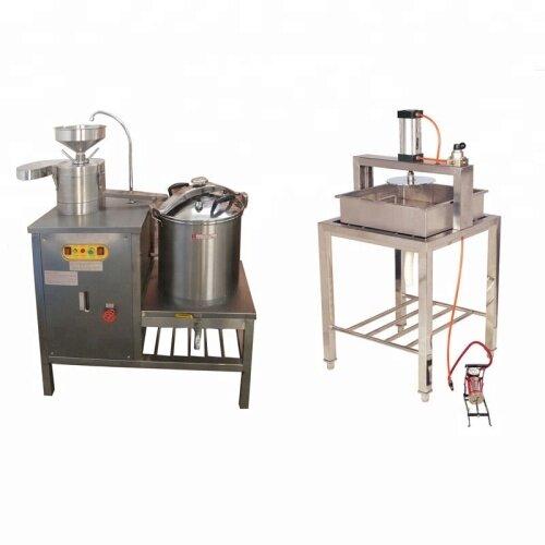 40L Gas Commercial Soybean Press Milk Boiler Grinder Soymilk Grinding Tofu Maker Making Equipment Machine Price For Sale