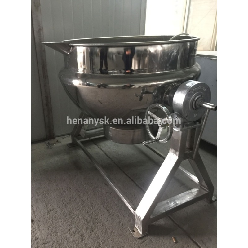 2020 on Sale 50L Industrial Electric Marmita Oil Jacketed Cooking Pot Steamer Kettle Gas Cooking Pot with Mixer