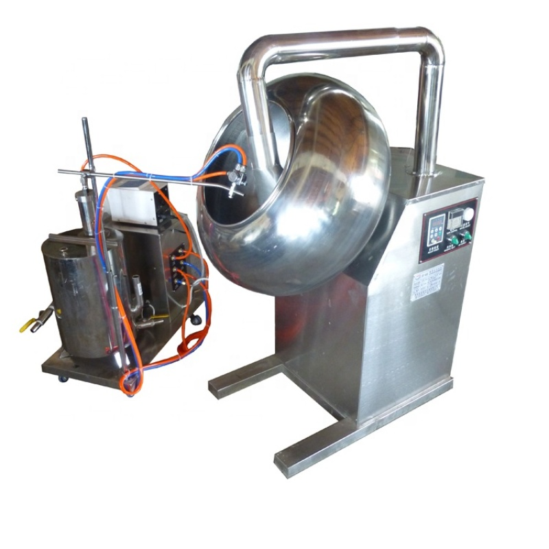 BY-600 Full Stainless Steel Medicine Food Chemical Pill Tablet Beans Coating Wrapping Sprayer Spraying Machine Air Compressor