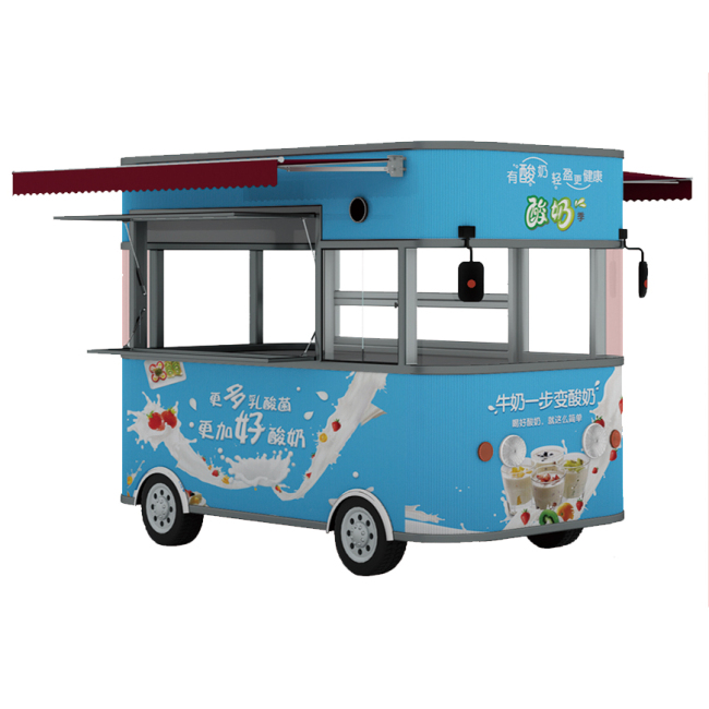 2019 Self Driven Food Trailer Snack Truck Machine Food Truck Trailer Mobile Food Trucks Ice Cream Coffee Mobile Kitchen Trailers