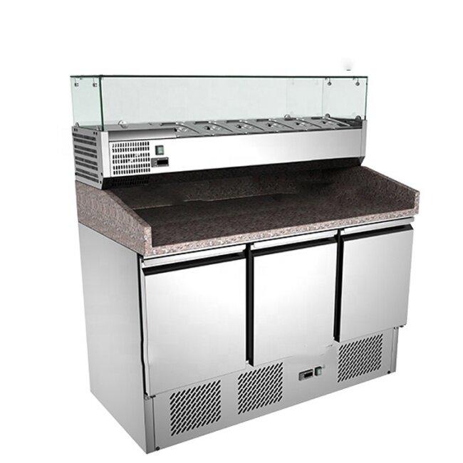 OEM Granite Marble Top Salad Work Bench Counter Top Salad Bar