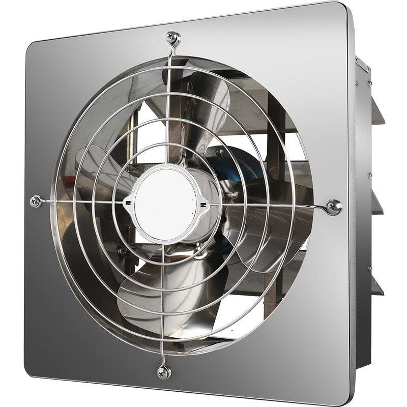 Stainless Steel Louver Wind Ventilator Exhaust Fans Domestic Window Kitchen Fume Metal Exhaust Fan 8 10 12 Inch
