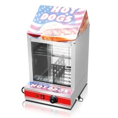 Electric Stainless Hot Dog Warming Cabinet Food Warmer Showcase Display