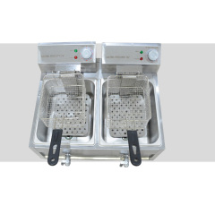 50-300 degrees Temp. Control Counter Top 2 Burner separate controller Potato chips Fries Electric Fryer