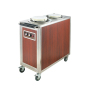 2 Holder Dishes Warming Trays Food Warming Equipment Heated Dish Storage Cart Plate Warmer Cart 50 Dishes