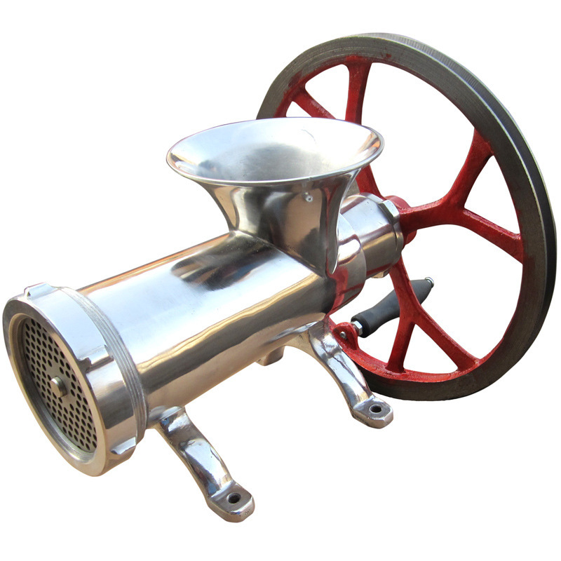 Meat Mixer Grinder Mincer  32 Model Stainless Steel Chicken Fish Spice Grinding Machine big Pully Electric / Handle Operation