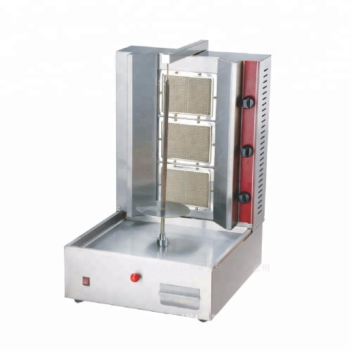Hot Sale 3 Burners Gas Shawarma Machine Doner Kebabs Rotary Barbecue Grill