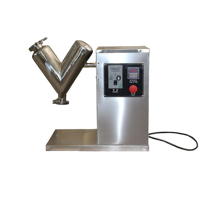 Stainless Steel Efficient Mixing Machine for High-Quality Experiment V-Mixer Small Dry Powder Mixing Machine Cylinder Mixing Mac