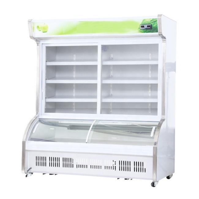 100% Tested Fruit Display Refrigerator with CE&ISO