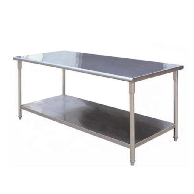 1.5m 1.8m Stainless Steel Tables Kitchen Furniture Food Preparation Table Workbench for Restaurant