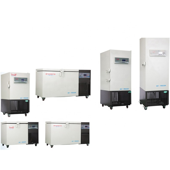 CE ISO High Quality Horizontal Deep Fridge Freezer for Lab Vertical 205L 305L 405L Laboratory Deep Freezer