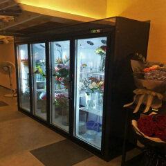 Supermarket  LED Commercial Glass Door Bouquet Floristry Floral Display Chiller Business Shop Coolers Cooler For Flower