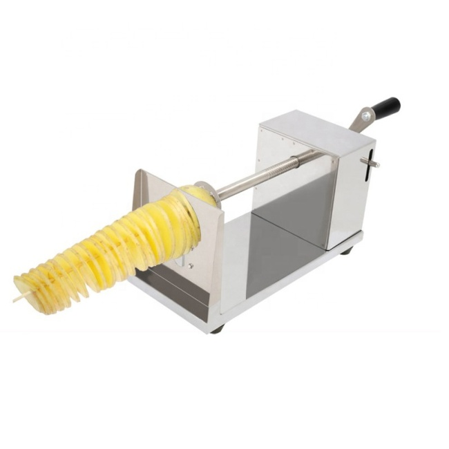 2020 Durable Manual Slicer Cucumber Spiral Potato Plantain Chips Slicer Tower Machine Cutter for Sales