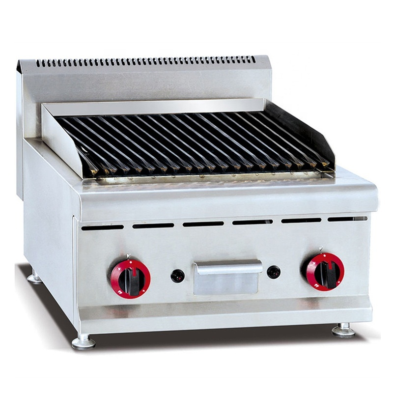 Counter Top Gas Lava Rock Grill Gas Grill, Gas Bbq Grill, Stainless Steel Lava Rock Bbq Grill