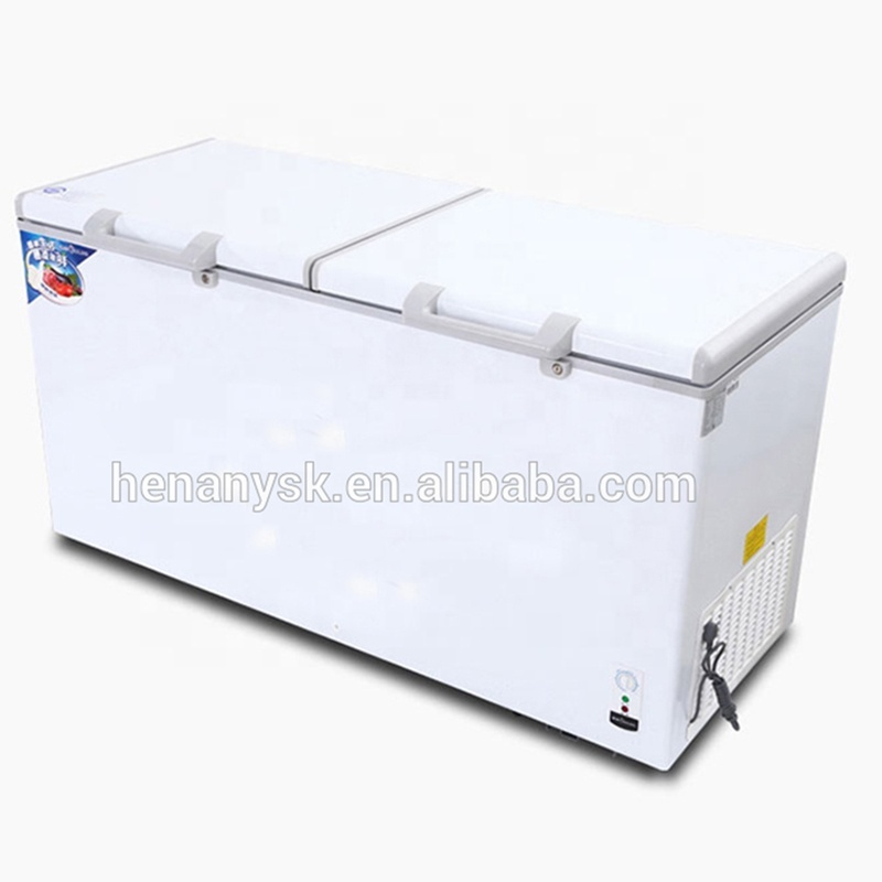 2 Door Commercial Refrigerator Horizontal Single Temperature Freezing Refrigerating Integrated Cabinet